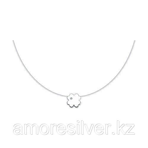 Колье SOKOLOV серебро с родием, бриллиант 87070010 размеры - 40 45
