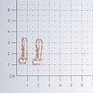 Серьги Красная Пресня серебро с позолотой, фианит, фантазия 33810791, фото 2