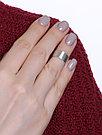 """Кольцо  серебро с родием, без вставок, , """"линии"""" 0101504-10245 размеры - 14, фото 3"""
