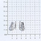 Серьги  серебро с родием, фианит, с английским замком, флора 2101006-00775, фото 2
