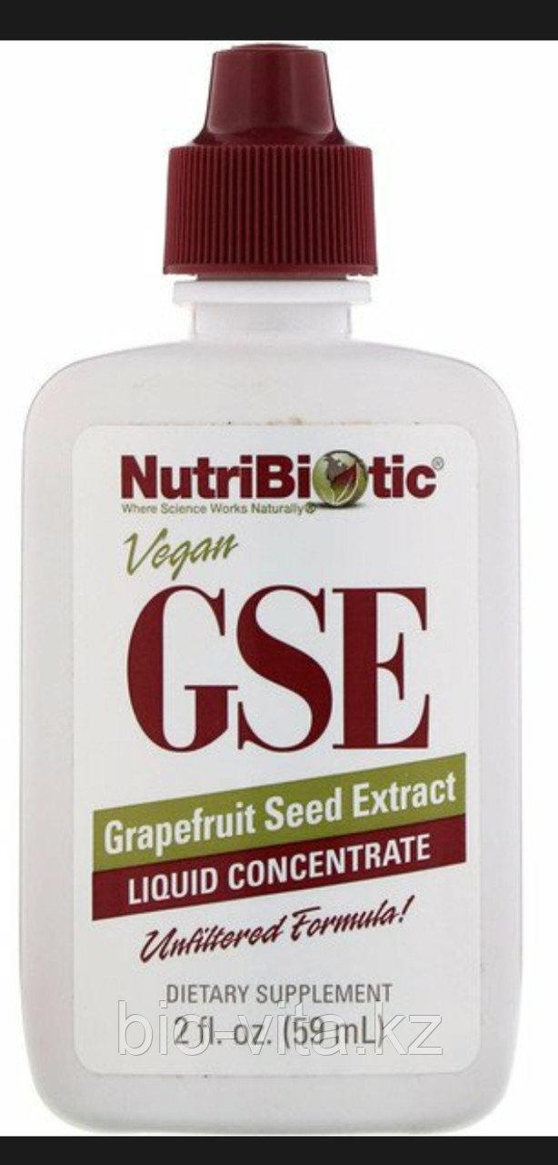 NutriBiotic, GSE экстракт грейпфрутовой косточки, жидкий концентрат, (59 мл) Растительный антибиотик.