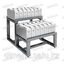 Двухрядный двухуровневый стеллаж для размещения аккумуляторов серии КРОН-АКС-13