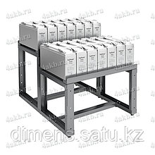 Двухрядный двухуровневый стеллаж для хранения аккумуляторных батарей серии КРОН-АКС-23