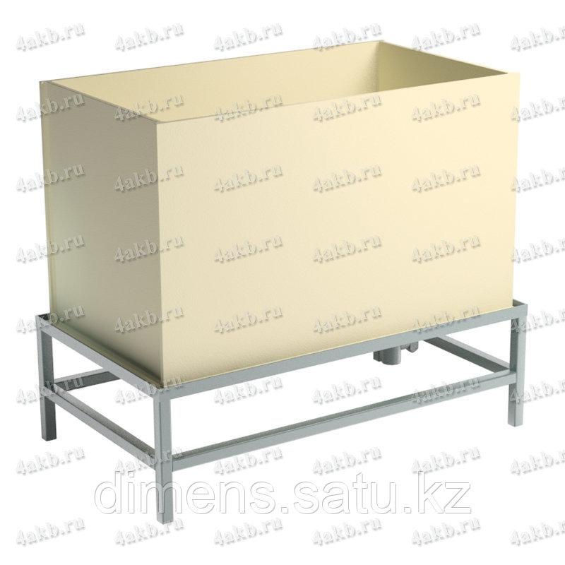 Ванна полипропиленовая для промывки АБ со сливом и решеткой 05.Т.042.10