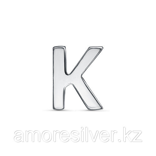 Подвеска TEOSA серебро с родием, без вставок, буква 3000-3045