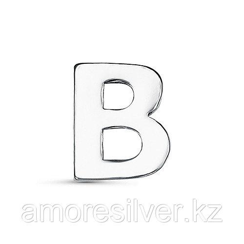 Подвеска TEOSA серебро с родием, без вставок, буква 3000-3053