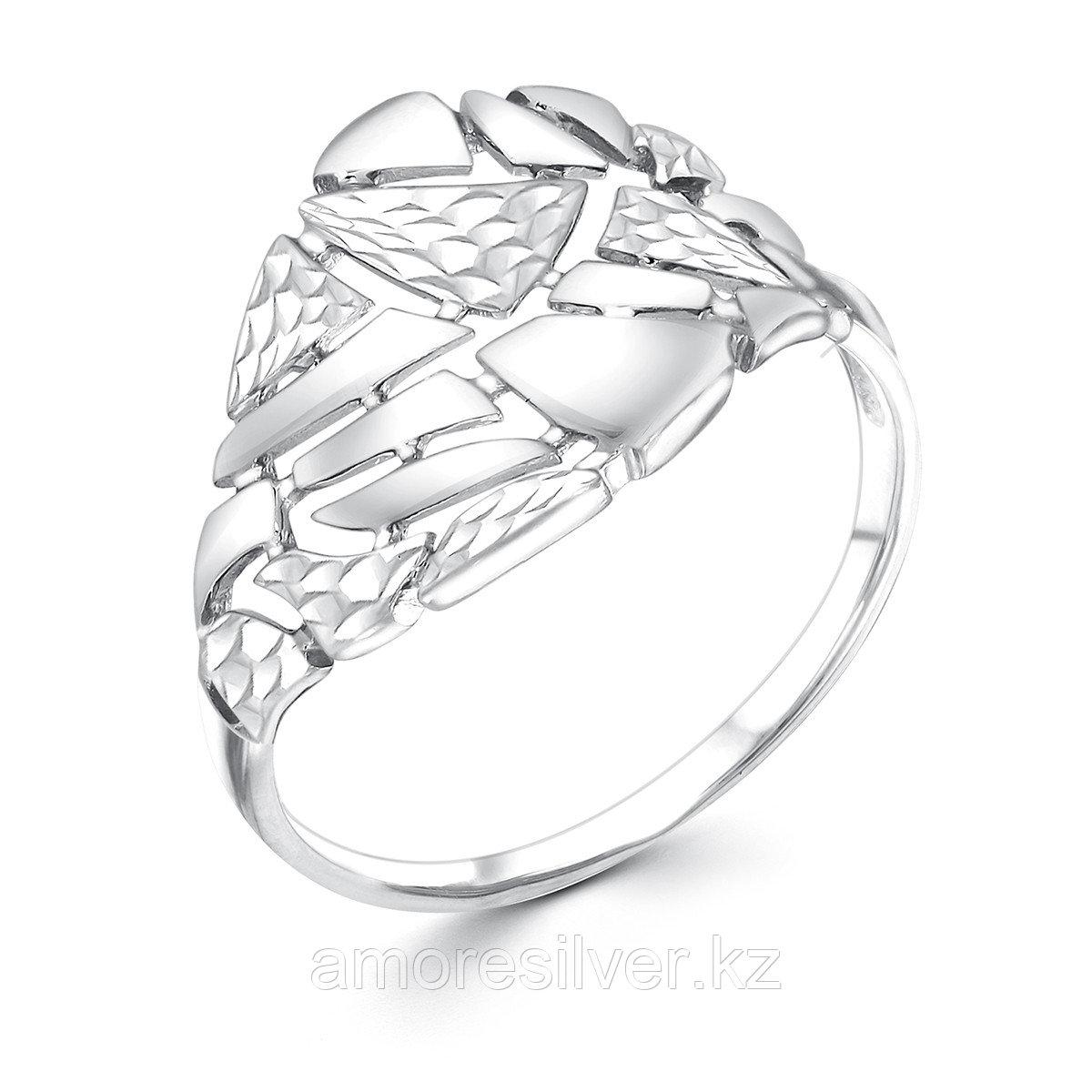 Кольцо Золотые узоры  серебро с родием, без вставок, с английским замком, фантазия 91-01-0698-00 размеры -