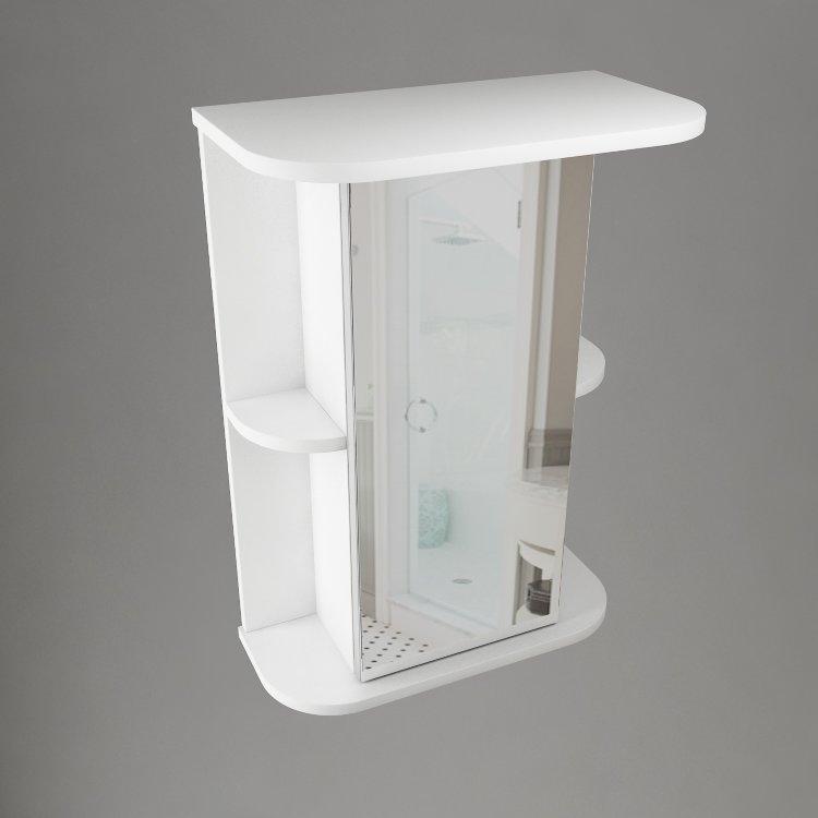 Шкаф навесной Water World, R, 600,60*70*17,5 (Белый снег, Молочный глянец)4603750000000