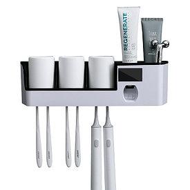 Держатель-стерилизатор зубных щеток с дозатором зубной пасты