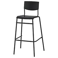 Стул барный СТИГ 74 см черный/черный ИКЕА, IKEA