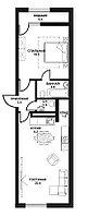 2 комнатная квартира ЖК Табысты 65,6м2