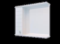Шкаф навесной Water World, 1 дверь + зеркало, 500, 50*70*17(Матрикс, Белый снег, Молочный глянец)4603750000000