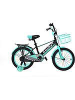 Детский велосипед Berkut 16 2020 черный-бирюзовый