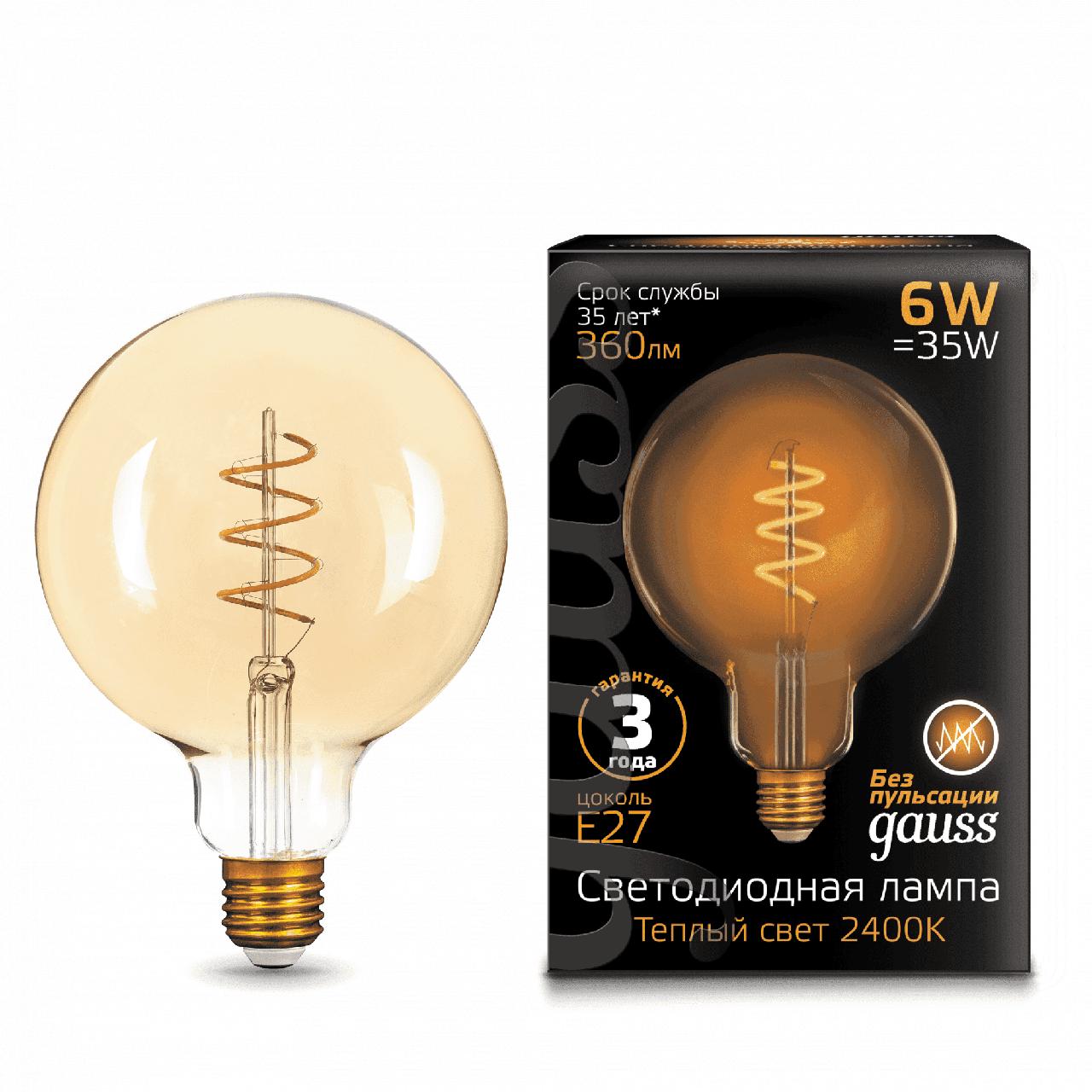 Лампа Gauss G120 E27 6W 2400K