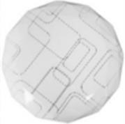 Светильник потолочно-настенный LED ультратонкий многоуг-к Линии, 6400К, 12W, 230 мм