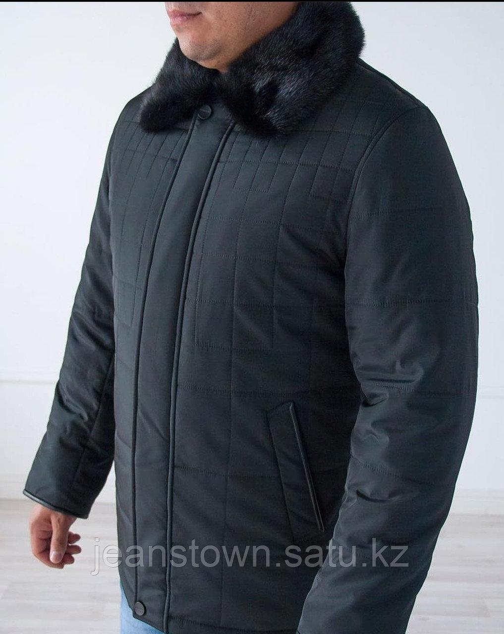 Куртка City Class мужская зимняя ,мех норки на воротнике - фото 1