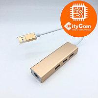 Адаптер (переходник) USB to LAN + USB 2.0 Hub 100Mbit Арт.5701