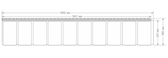 """Панель фасадная  """"ЯФАСАД"""" Сибирская дранка Уголь  257x1631 мм Grand Line"""