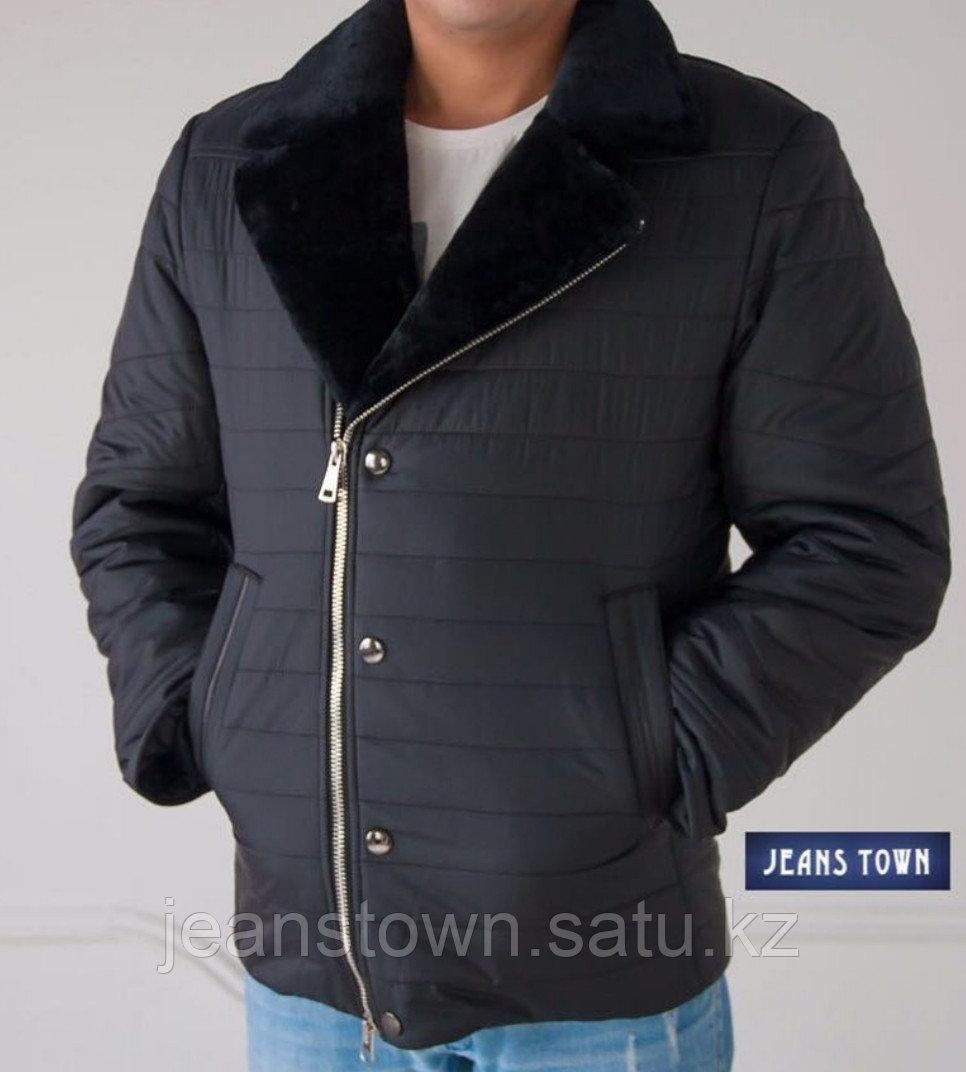 Куртка City Class мужская зимняя ,мех мутон на воротнике - фото 1
