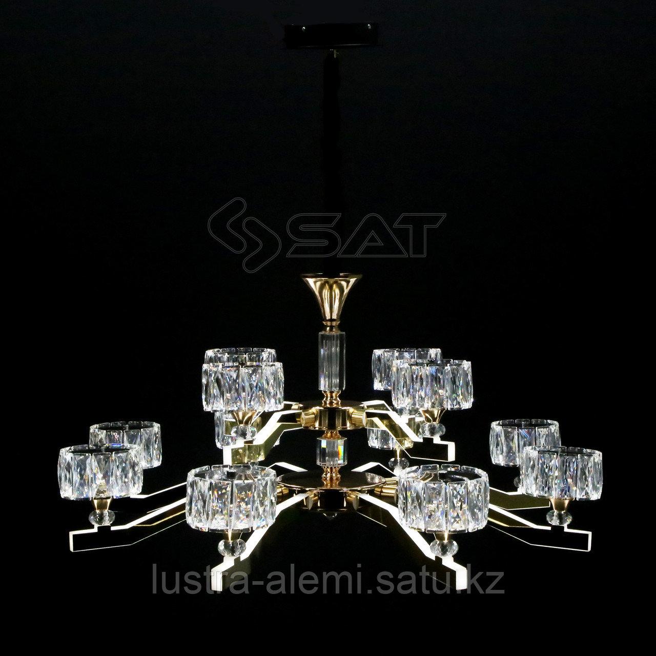 Люстра ЛЭД 9653/8+4 LED New-Classic