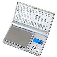 Весы ювелирные электронные карманные на батарейках Digital Scale серебристые