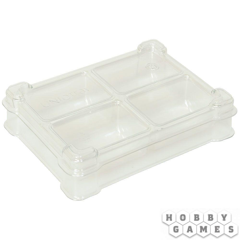 Пластиковая коробочка UniqTraySystem Token FOUR (4 секции) прозрачный