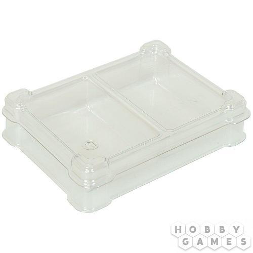 Пластиковая коробочка UniqTraySystem Token TWO (2 секции) прозрачный