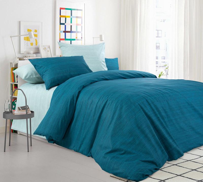 ТексДизайн Комплект постельного белья Изумрудная зелень,  дуэт(семейное), перкаль ТексДизайн(Россия),