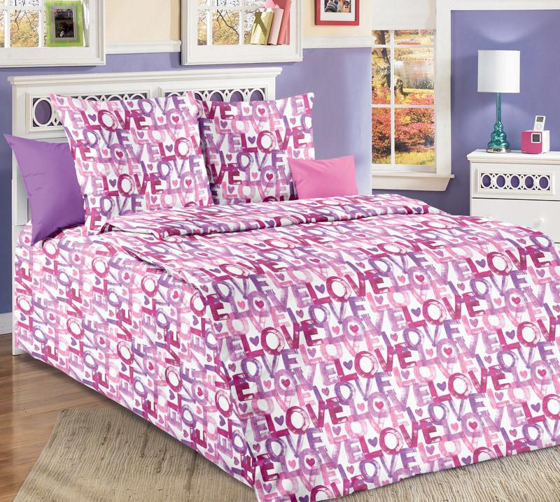 ТексДизайн Комплект постельного белья Первая любовь 1, 1.5 спальный , бязь