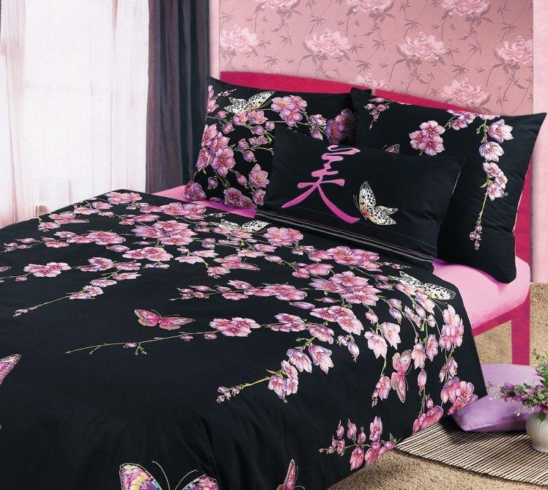 ТексДизайн Комплект постельного белья Сакура 1, 1.5 спальный , бязь