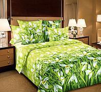 ТексДизайн Комплект постельного белья Подснежники 1, 1.5 спальный , бязь