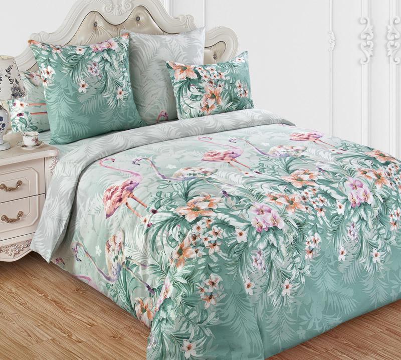 ТексДизайн Комплект постельного белья Фламинго 1, 1.5 спальный , бязь