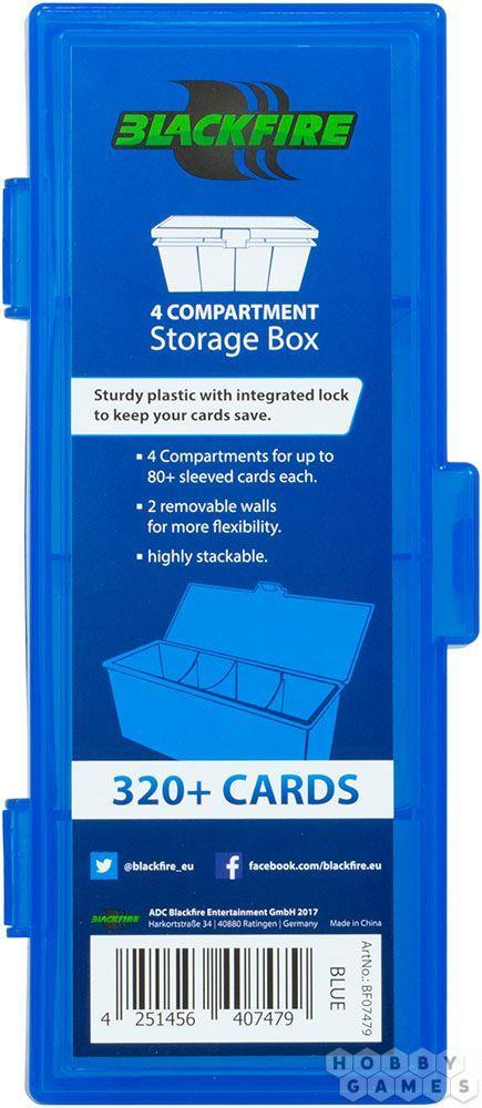 Пластиковая коробочка Blackfire для четырёх колод - Синяя (320+) - фото 2