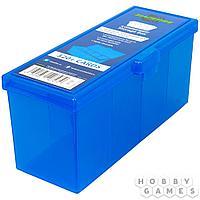 Пластиковая коробочка Blackfire для четырёх колод - Синяя (320+)