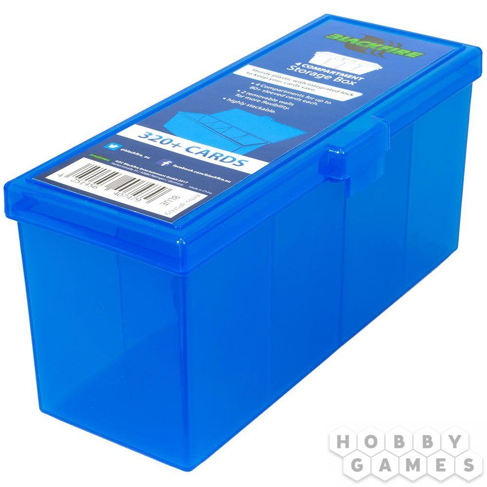 Пластиковая коробочка Blackfire для четырёх колод - Синяя (320+) - фото 1