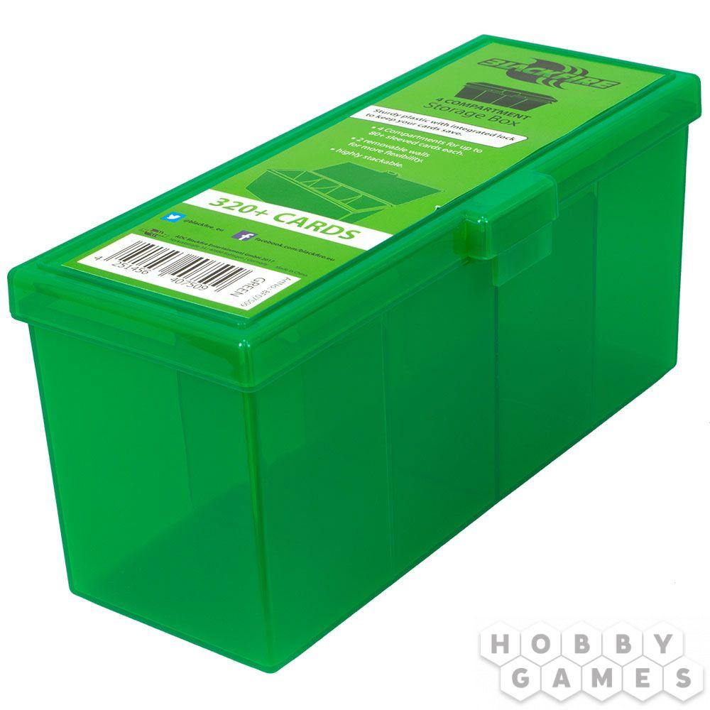 Пластиковая коробочка Blackfire для четырёх колод - Зелёная (320+)