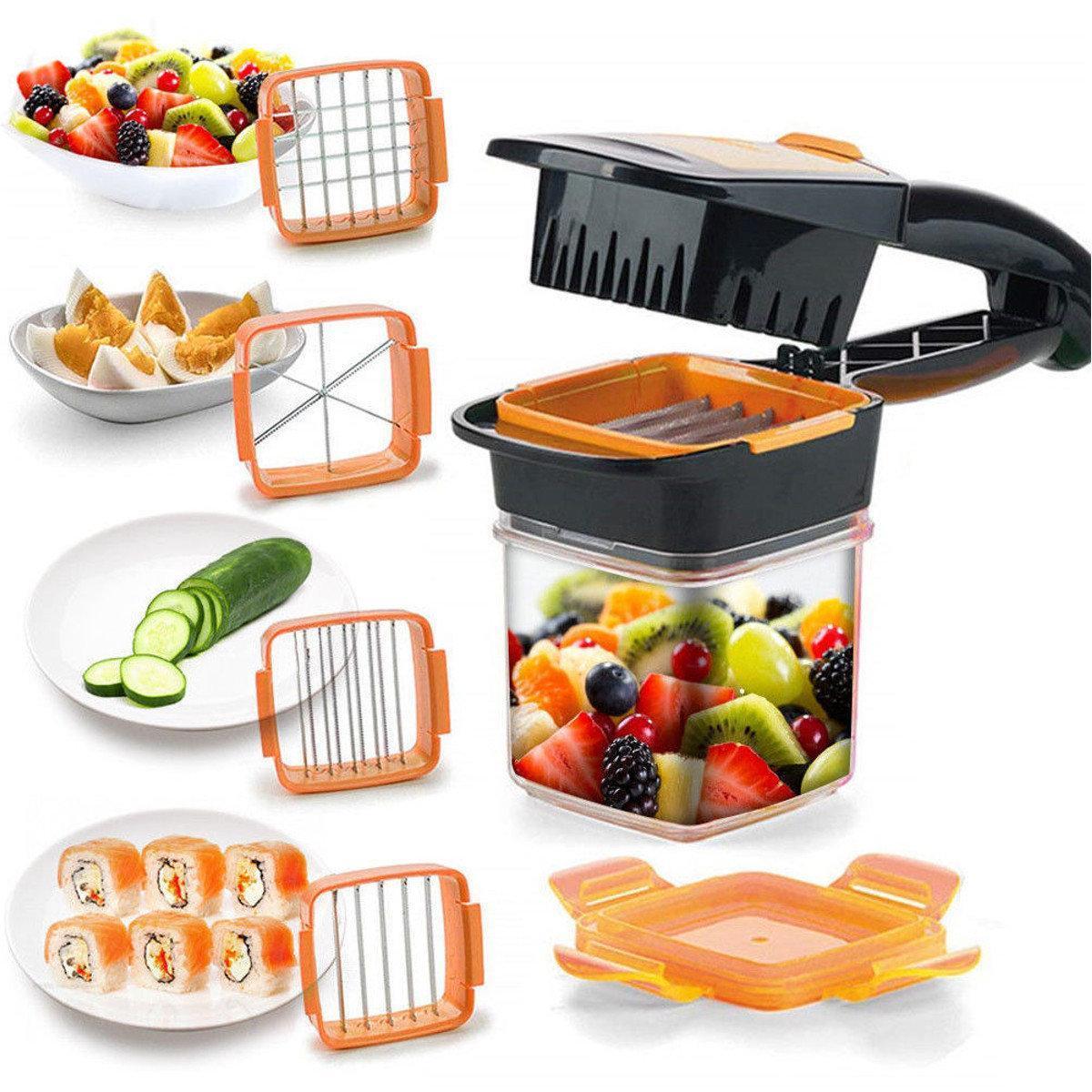 """Овощерезка с контейнером и насадками """"Секунда"""" оранжевая Приятная готовка!"""