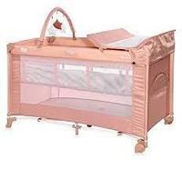 Кровать - манеж Lorelli TORINO 2,цвет бежевый,розовый,серый,серо\синий.