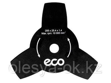 Нож для мотокосы 3 зуб. 255х1.4х25.4 мм ECO (GTP-3T), фото 2