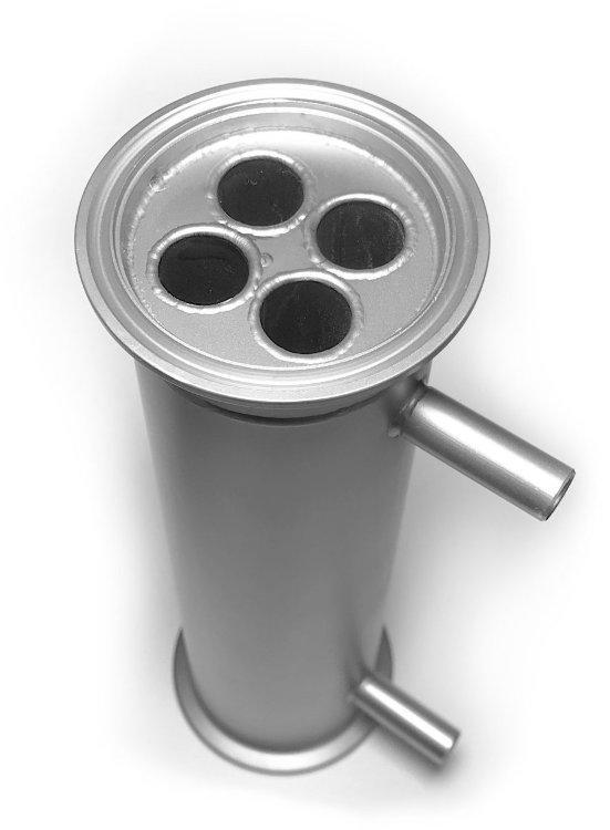 Дефлегматор 1,5 дюйма, 10 см, трубка 10 мм