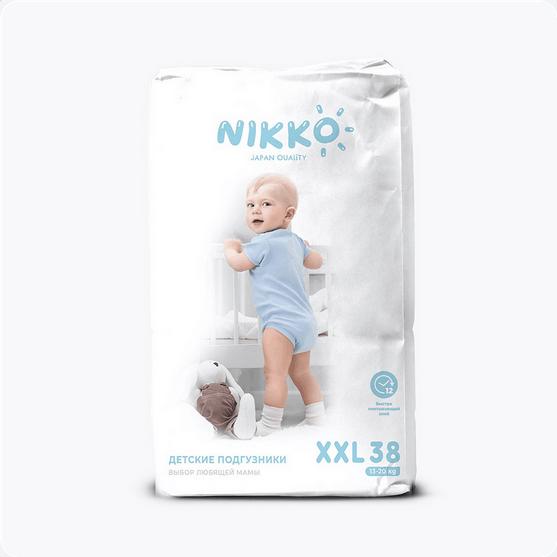 Подгузники Nikko размер XXL (13-20кг) 38 штук