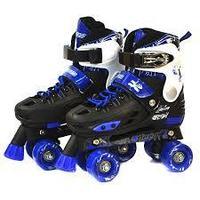 Детские роликовые коньки -квады синие