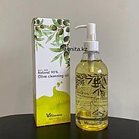 Гидрофильное масло с натуральным маслом оливы Elizavecca Natural 90% Olive Cleansing Oil, 300мл.