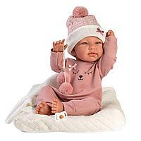 Кукла Llorens Тина в розовой пижаме и с матрасиком