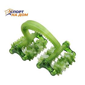 Роликовый массажер для тела с контролем целлюлита (цвет зеленый)