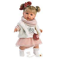 Кукла Llorens Юлия в меховом жилете 42см