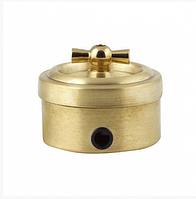 Ретро выключатель (металл,золото)