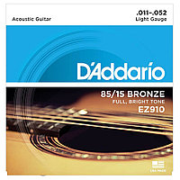 Струны для акустических гитар D'addario EZ910