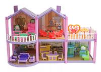 Домик для кукол с мебелью, 111 деталей