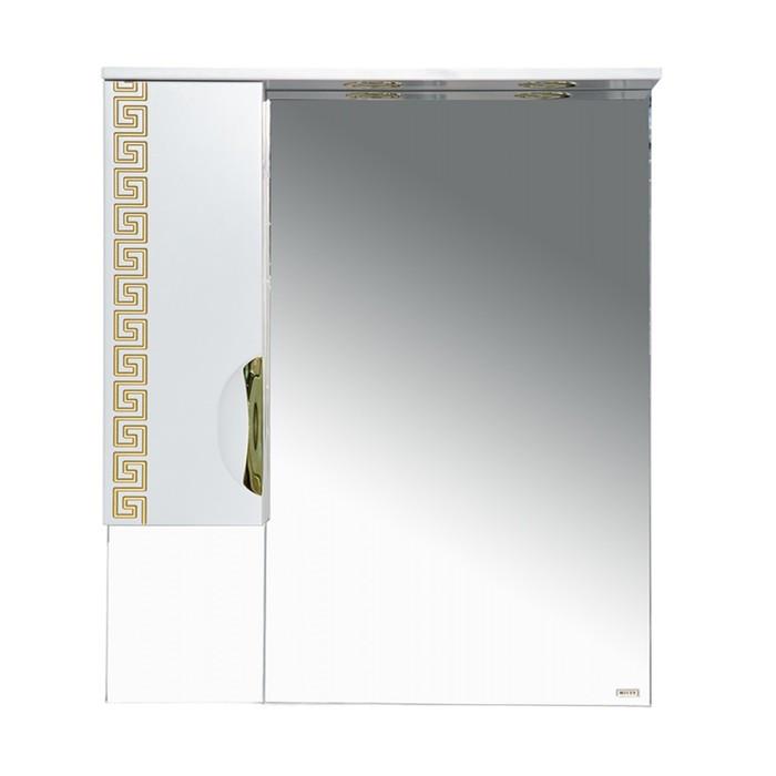 Престиж - 80 Зеркало-шкаф (левое) золотая патина - фото 1